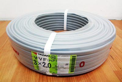 矢崎電線 VVFケーブル VVF3x2.0mm-1