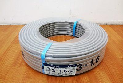 カワイ電線 VVFケーブル VVF3x1.6mm-1