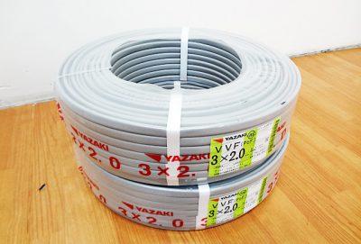 YAZAKI 矢崎電線 VVFケーブル VVF3x2.0mm-1
