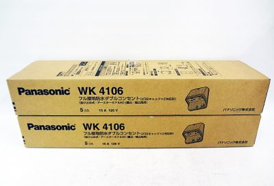 Panasonic パナソニック フル接地防水ダブルコンセント WK4106-1