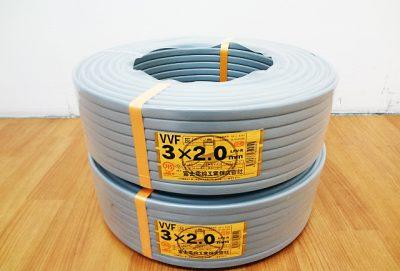 電材 建材 富士電線 Fケーブル VVF3x2.0mm-1