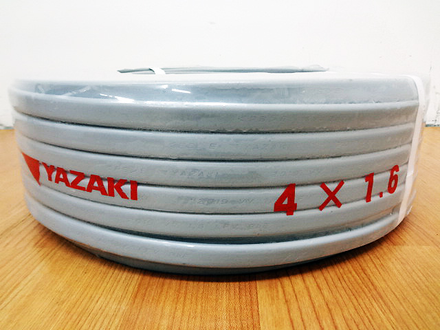 YAZAKI 矢崎電線 電力ケーブル VVF4x1.6mm-3