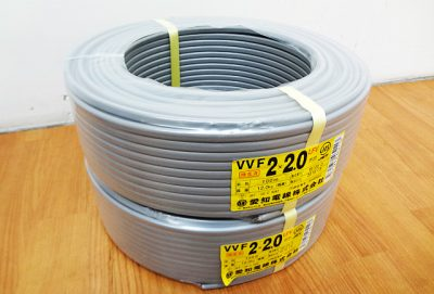 電材・建材 愛知電線 VVFケーブル VVF2x2.0mm-1