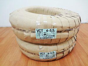 富士電線 キャブタイヤケーブル VCT4x5.5mm-2